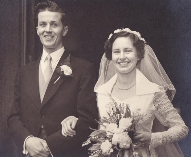 Joseph and Norma Galvin on their wedding day