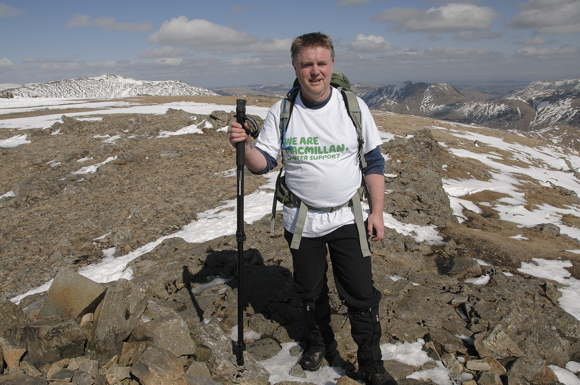 Nick Hodgson in the Lake District last winter on a training walk.