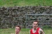 Thomas Nelson and Ruiadh Mon Williams battle it out at Reeth
