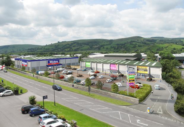 Artists' impression of the new retail park