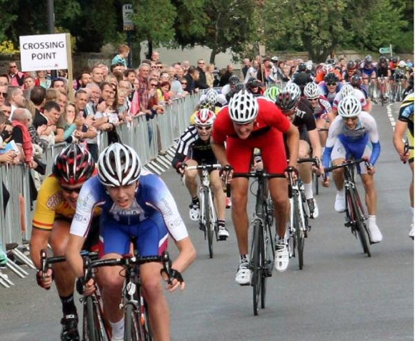 Bradley cyclist Jamie Ridehalgh sprints to victory in Tickhill Grand Prix