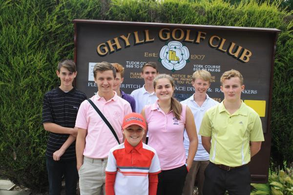 Ghyll's Junior Squad Spencer Datkiewicz, Kyle Horn, junior captain Emme Blades, Sam Bugler, Joseph Darcy, Jacob Jolly, Jonathan Davies and Ben Jolly.