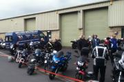 Bikes assemble for the ride-out at Cross Hills for the Nicole's Wish to Walk appeal
