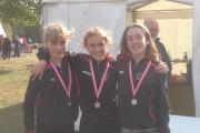 SILVER SUCCESS: From left, Lucy Fryers, Angelina Bairstow and Katie Atkinson
