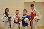 Horizon Taekwondo Academy's Commonwealth Championship quartet, from left, Ellie Bowden (Cullingworth), Jamie Simpson-Kidd (Silsden), Kieran Young (Bradford) and Thomas Henley (Harrogate)