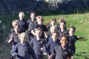 Threshfield Primary School pupils win the Area Cross Country Event. (11049465)