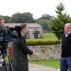 Craven Herald: YDS treasurer and trustee Graham Yule is interviewed by Ian White from BBC Look North