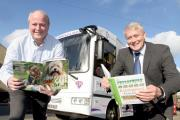 County Councilor Patrick Mulligan and PC clerk Andrew Mallinson outside the new Super mobile Library. (11591694)