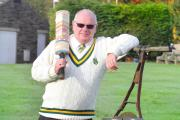 Embsay Cricket Club chairman Trevor Coe recieves life membership for 40 years of service to the club. (12085247)