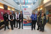 Some of those who attended the Healthy High Streets event at Leeds City College Keighley Campus