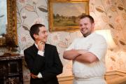 New restaurant manager William Bonfield with head chef AdamSmith