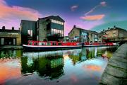 The canal basin in Skipton