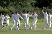 Foulridge, seen celebrating their 2011 Wynn Cup final win over Oakworth, have been drawn against them again in this year's first round