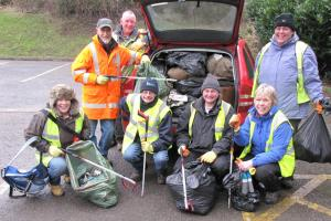 Barnoldswick volunteers carry out planting and litter picking