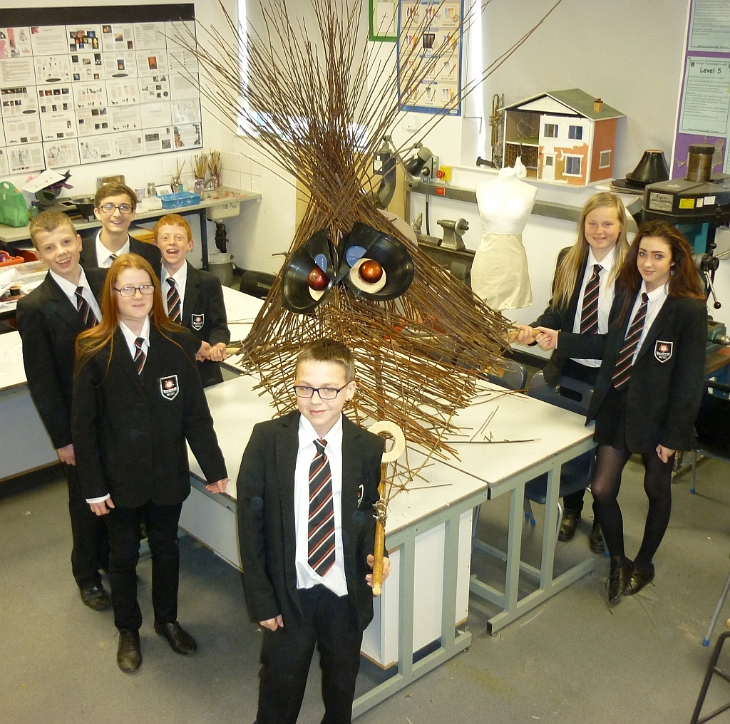 Year 9 students at West Craven High School created a dragon's head that led the parade at St George's Day celebrations in Barnoldswick on Saturday.