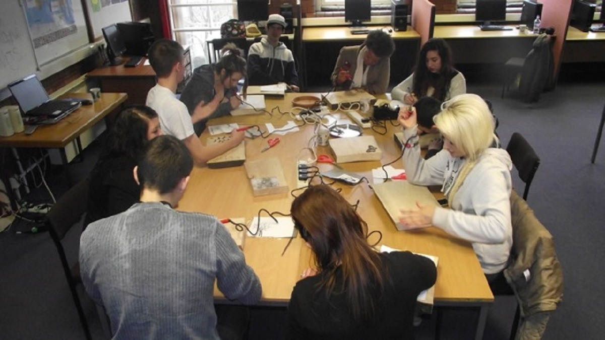 Young people working on the programme in Leeds