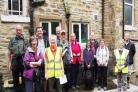 Margaret Brown and Wendy Faulkner lead a history walk