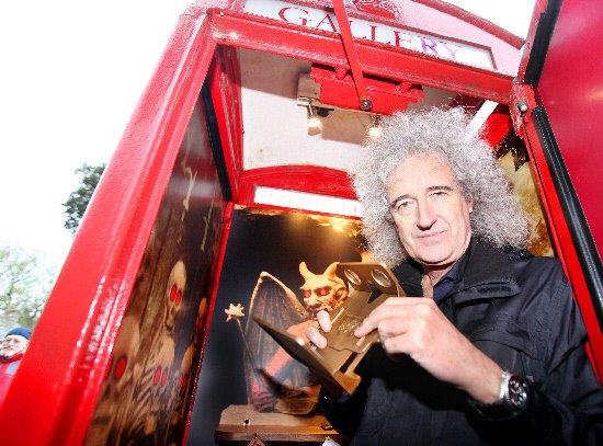 Guitarist Brian May at the gallery in 2013
