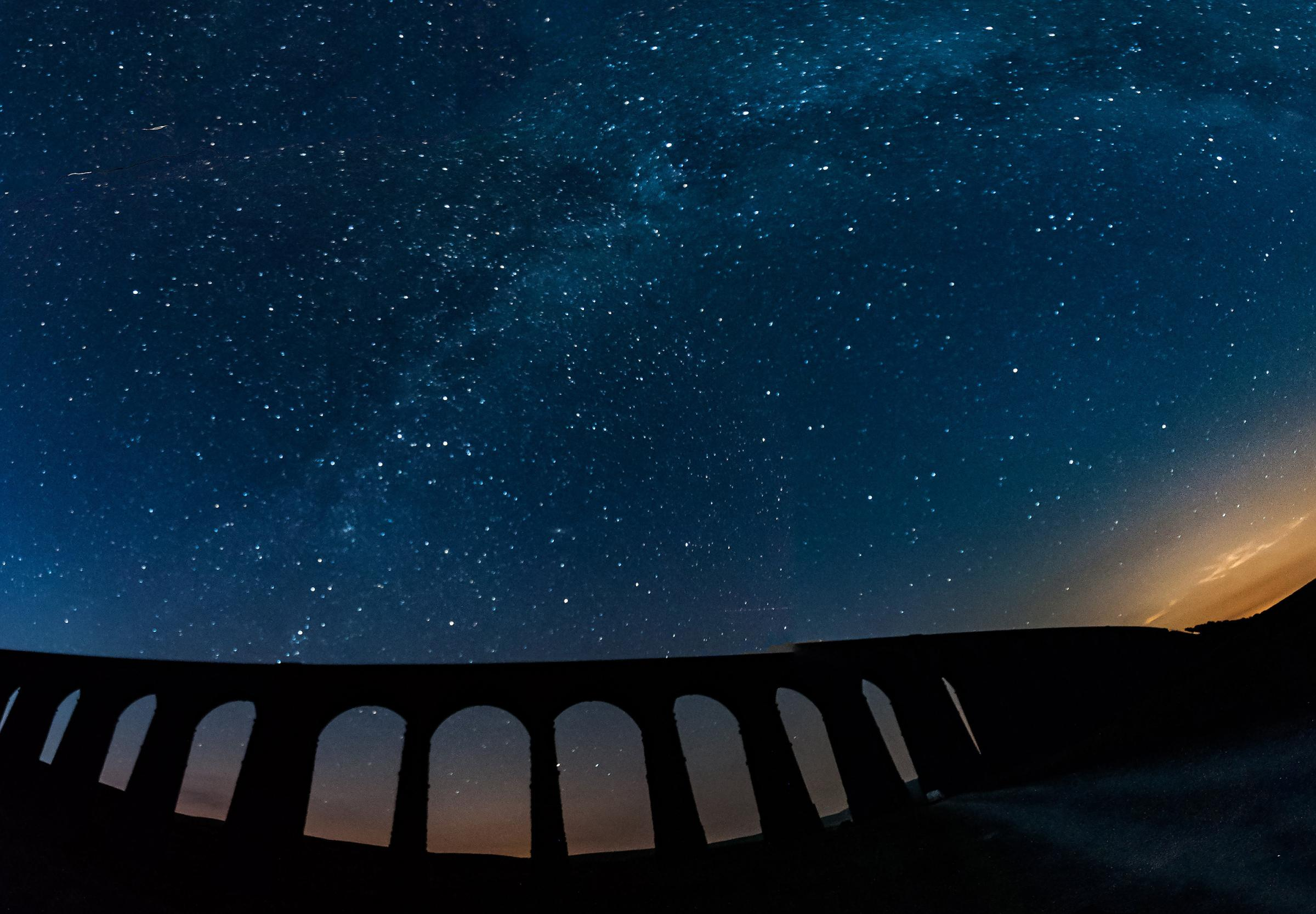 The sky above the Ribblehead Viaduct. Picture by Martin Eastwood