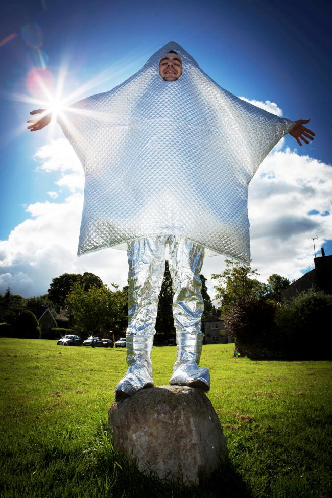 Settle Stories' Charles Tyrer promotes the Star Party in a costume made by Victoria Black. Picture by Tony Crossland