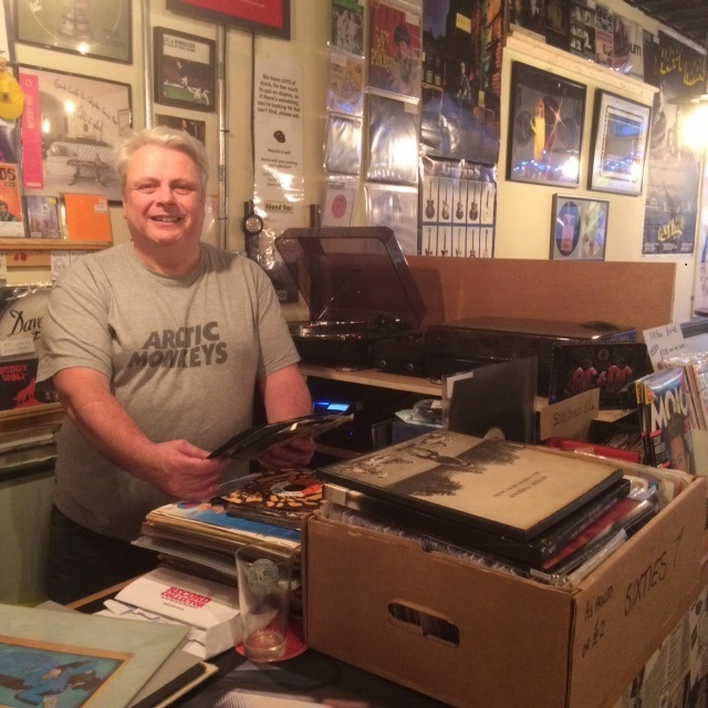 Miles Laprell at the turntable in Skipton Sound Bar
