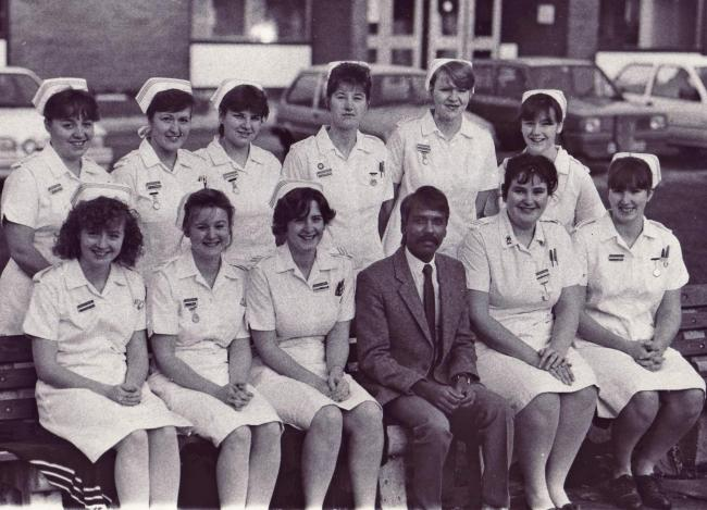 The October '86 intake of nurses at Airedale Hospital