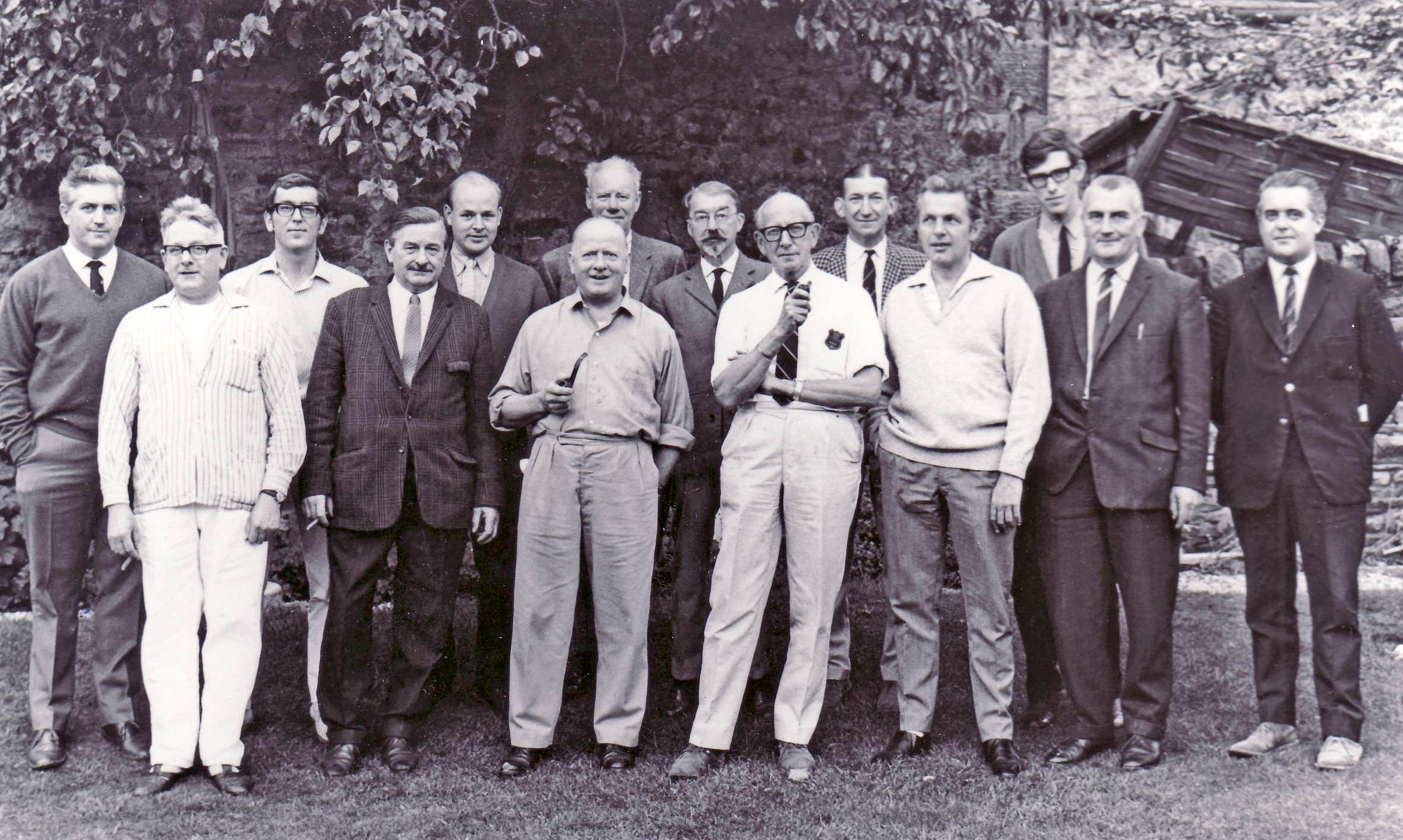 Burnsall Feast Sports Committee 1965, taken in the Red Lion garden
