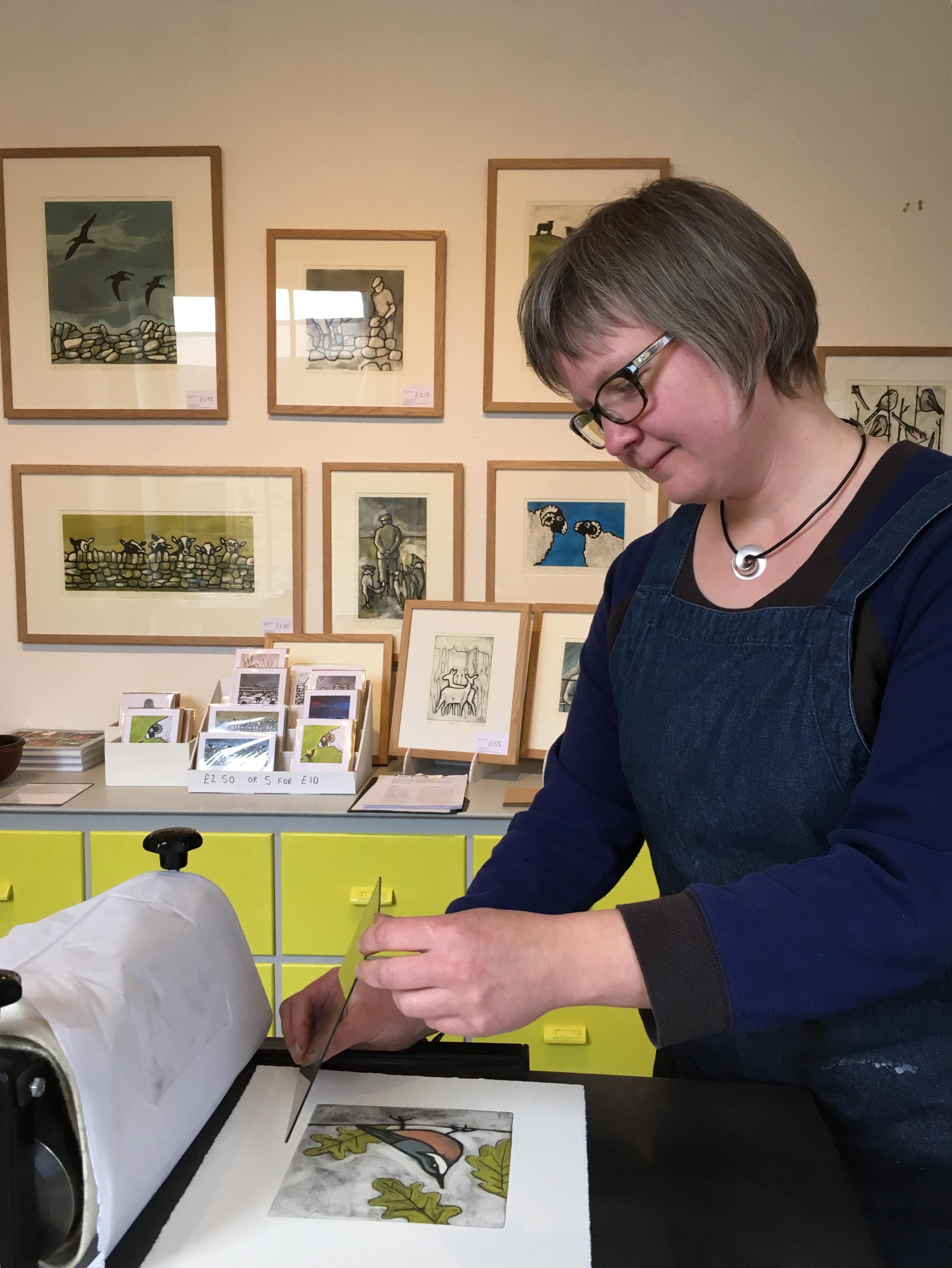 Anna Tosney in her studio