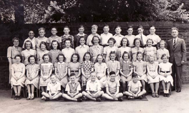 Pupils at Sutton-in-Craven County Primary School in June 1953