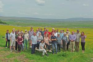More than 40 people attend the official launch of the Stories in Stone project at Broadrake Farm near Chapel-le-Dale.