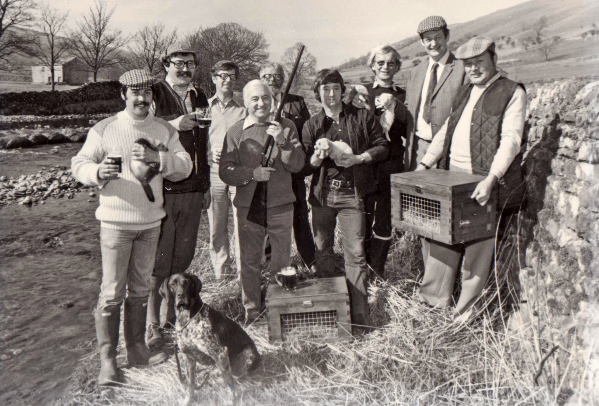 Ferret enthusiasts celebrate the end of the 1982 season