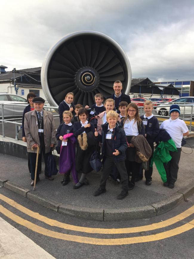 Glusburn children engineer a visit to Rolls-Royce factory | Craven ...