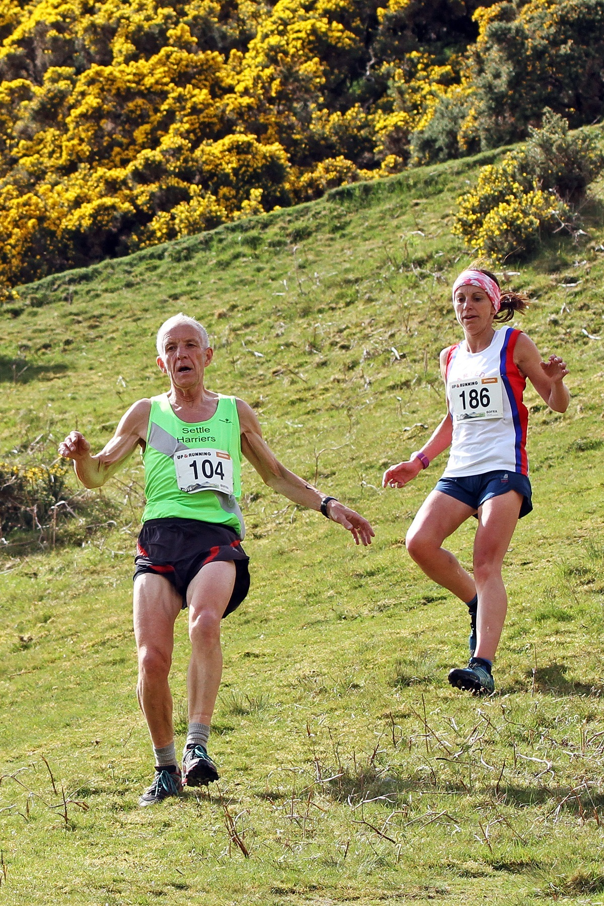 Mike Egner and Kirsty Hall competing at Sedbergh Gala which was the first race of the 2016 BOFRA Championship. Picture: Andy Holden
