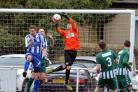 Goalkeeper Wayne Mahomet produced a fine penalty save which helped Steeton earn a point