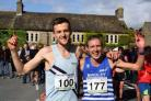 Burnsall Fell race winners Sam Tosh and Victoria Wilkinson. Picture: Dave Woodhead