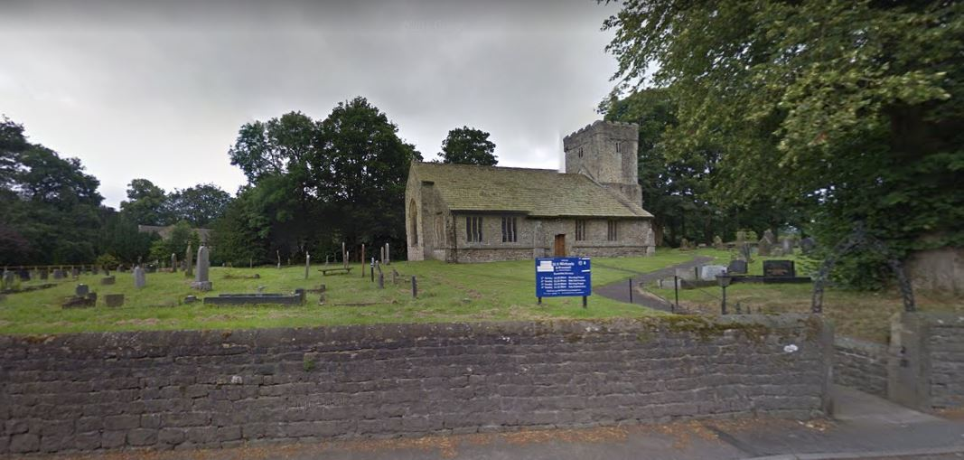 St Michael's Church in Bracewell, where trees will be felled to prevent a wall from collapsing.