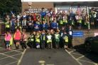 Kildwick Primary School pupils during their visit to Cross Hills library