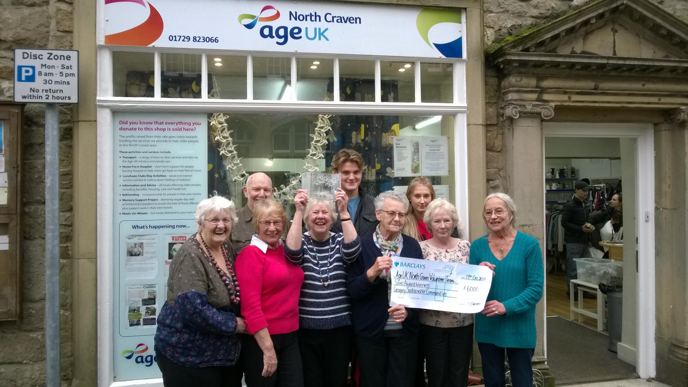 Volunteers at Age UK North Craven