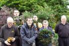 Members of the Stepping Stones project with the wreaths last year