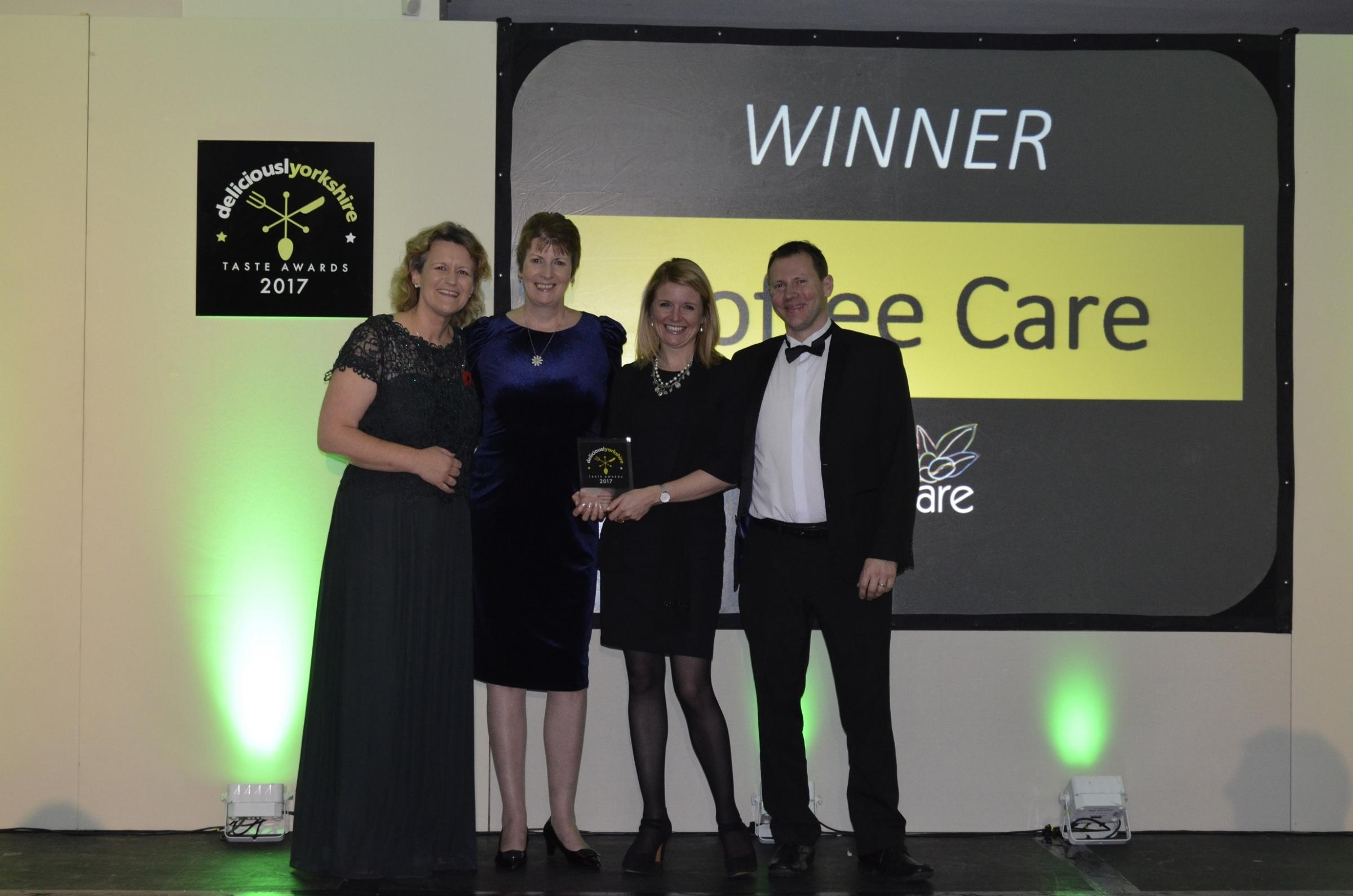 Skipton firm Coffee Care receive an award for Best Yorkshire Beverage and the Deliciously Yorkshire's Taste Awards.