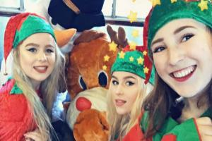 Students at Craven College have landed one of the plum seasonal jobs in the world of festive entertainment - helping Santa out as carriage entertainers aboard the Embsay and Bolton Abbey steam railway