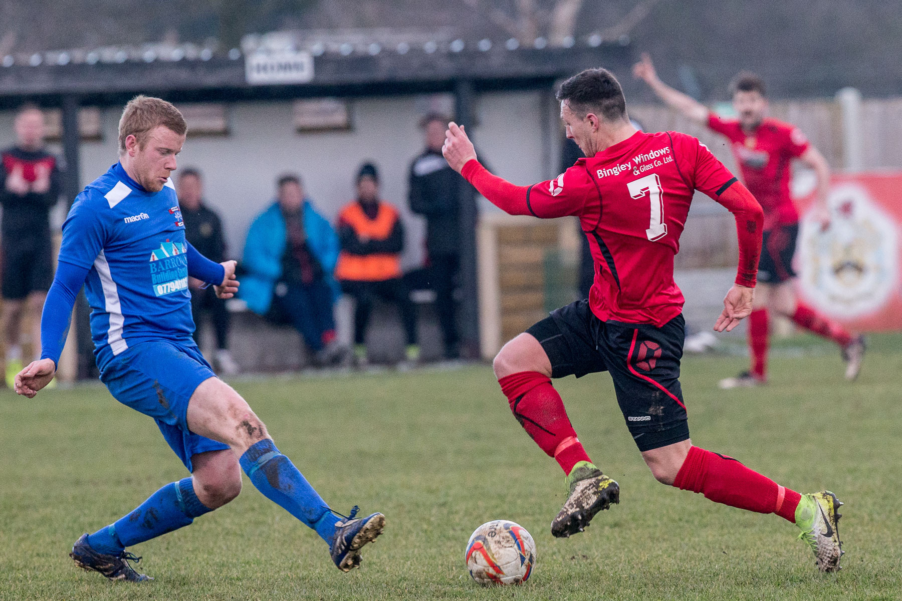 Silsden's Arley Barnes goes on the attack against Whitchurch as the club attracted their biggest crowd of the season   Picture: David Brett