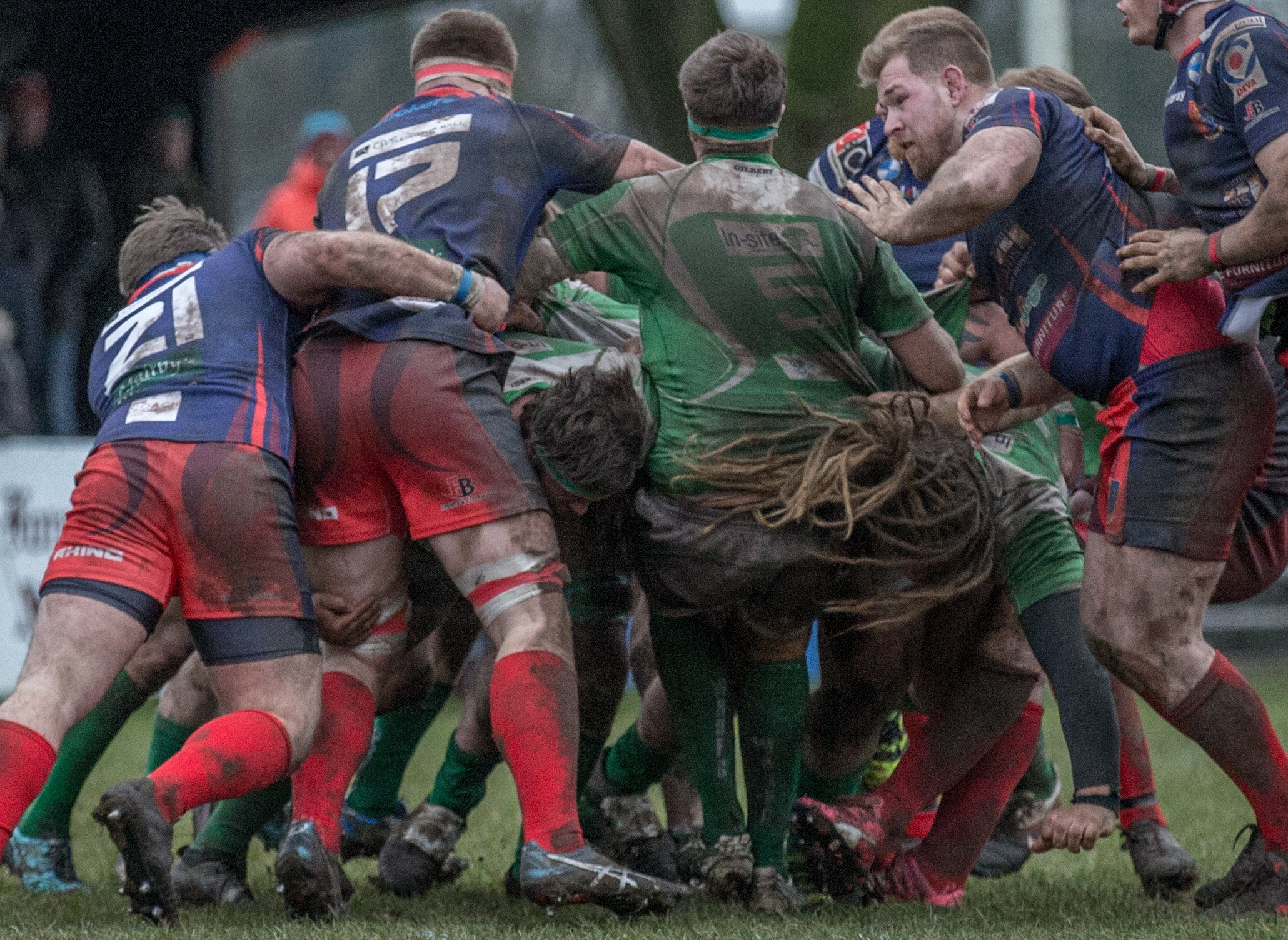 Wharfedale v Chester Adam Howard finds it a hair-raising experience Picture: Ro Burridge