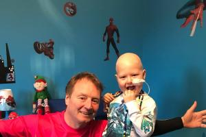 A brave Skipton boy is undergoing treatment after being diagnosed with leukaemia in December.