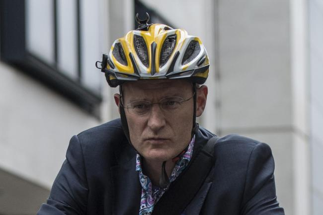 Jeremy Vine tells the London Assembly Transport Committee about his experience of cycling in the capital (Lauren Hurley/PA)