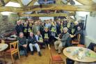 Guests celebrating the guide launch at Gisburn Forest Hub Café, picture by Mark Sutcliffe