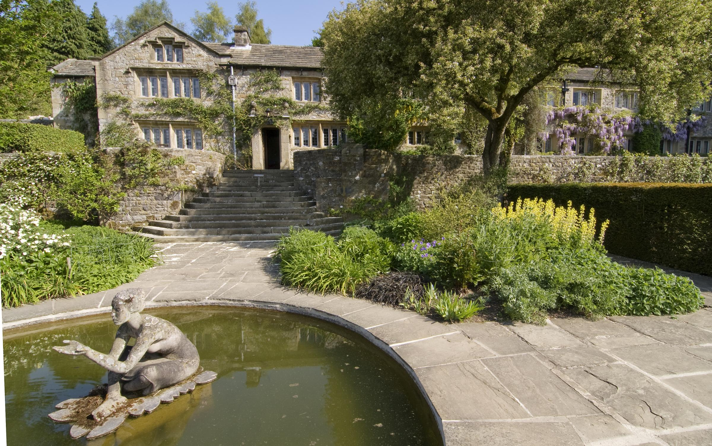 Parcevall Hall Gardens.  Top Terrace and Pool, picture by Enid Pyrah
