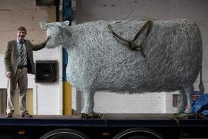 A LIFE size sculpture of the famously massive Craven Heifer is touring the county in celebration of the 160th anniversary of the Great Yorkshire Show