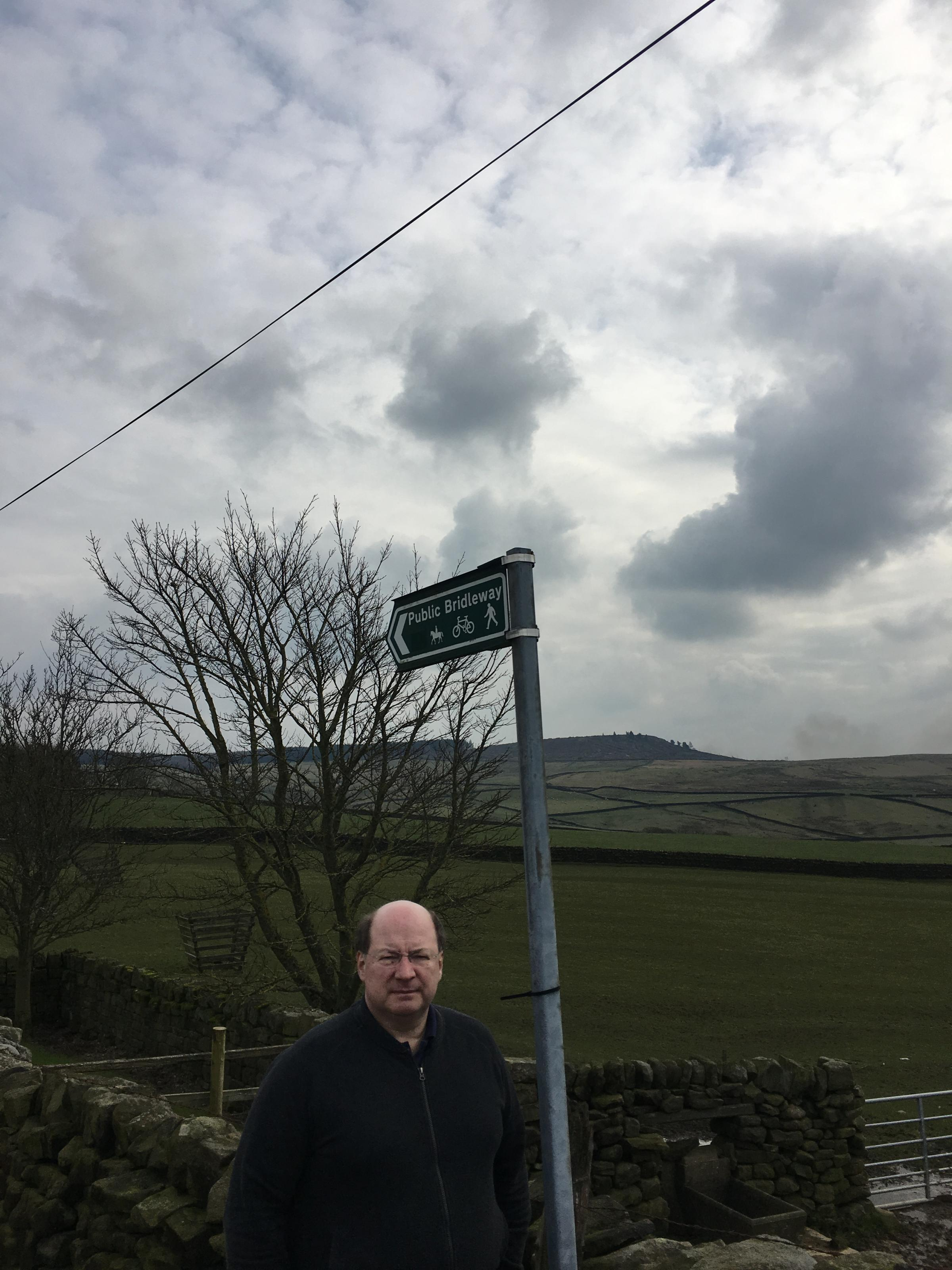 Cllr Adrian Naylor in the countryside