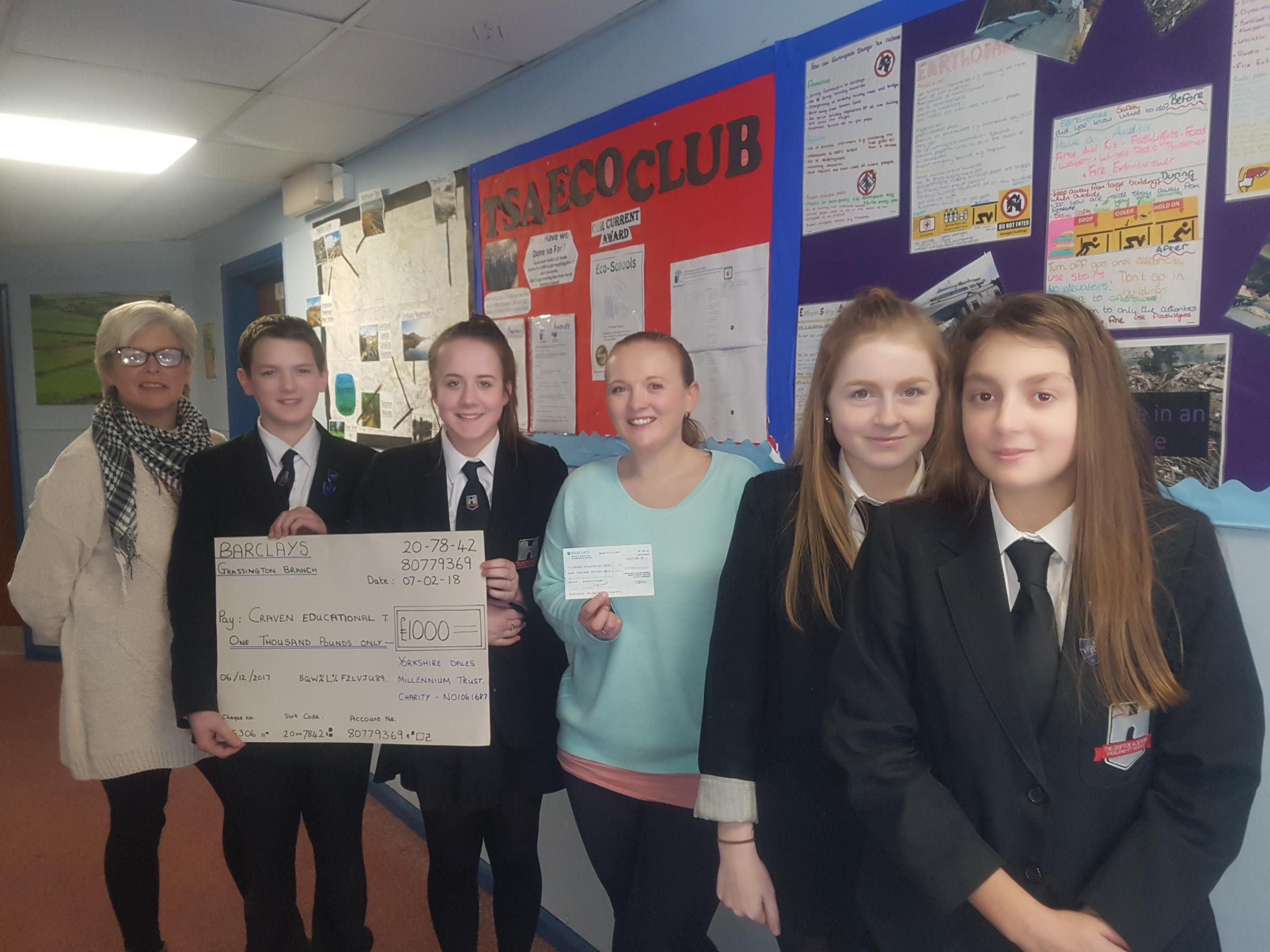 Skipton Academy pupils received money for their green ideas